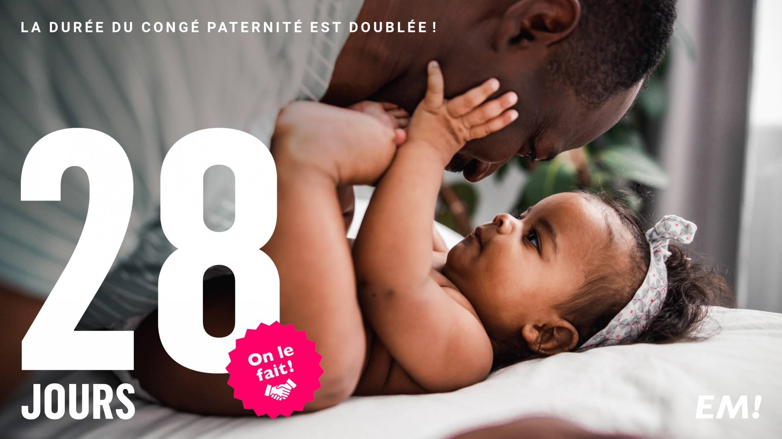 Doublement du congé paternité