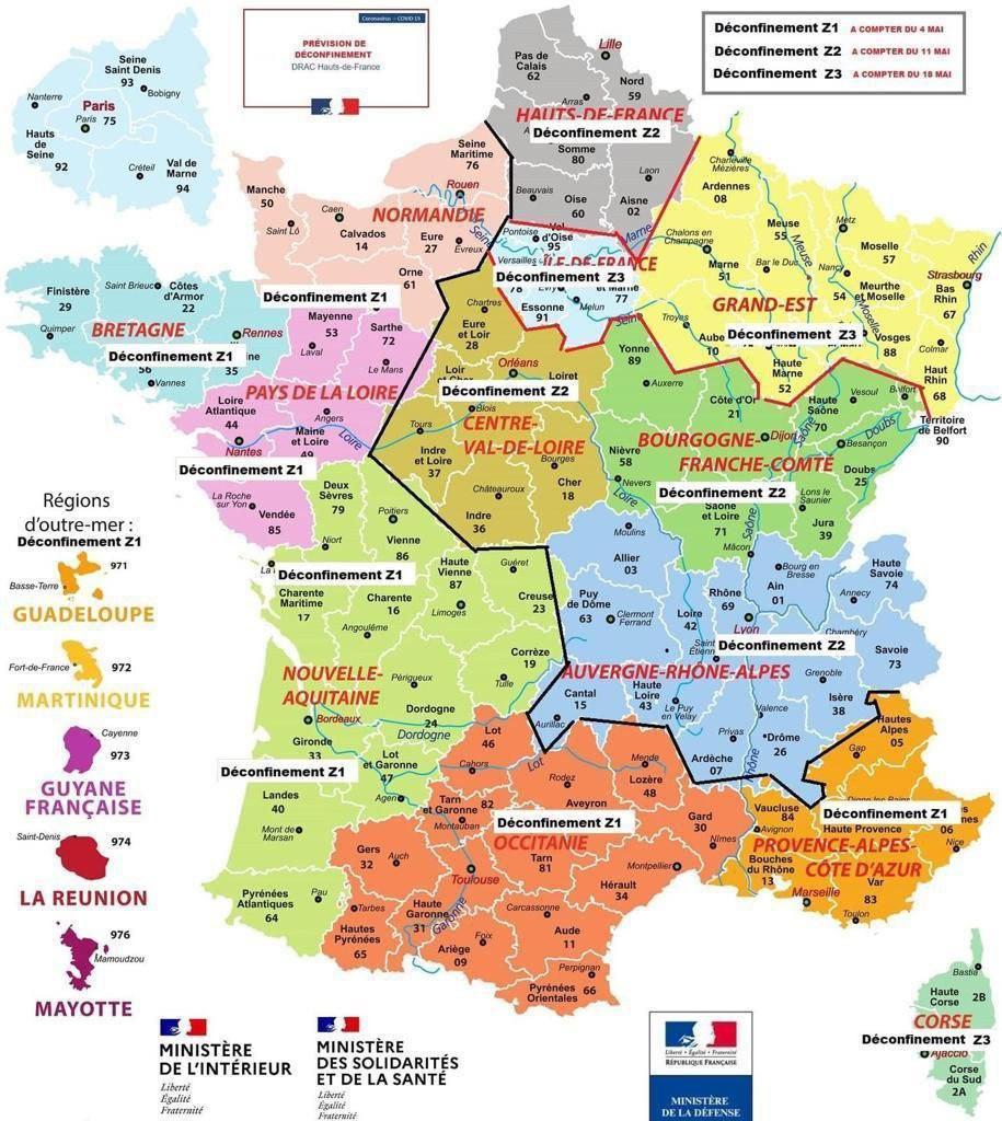 Le Gouvernement aurait publié une carte de France du déconfinement | La République En Marche