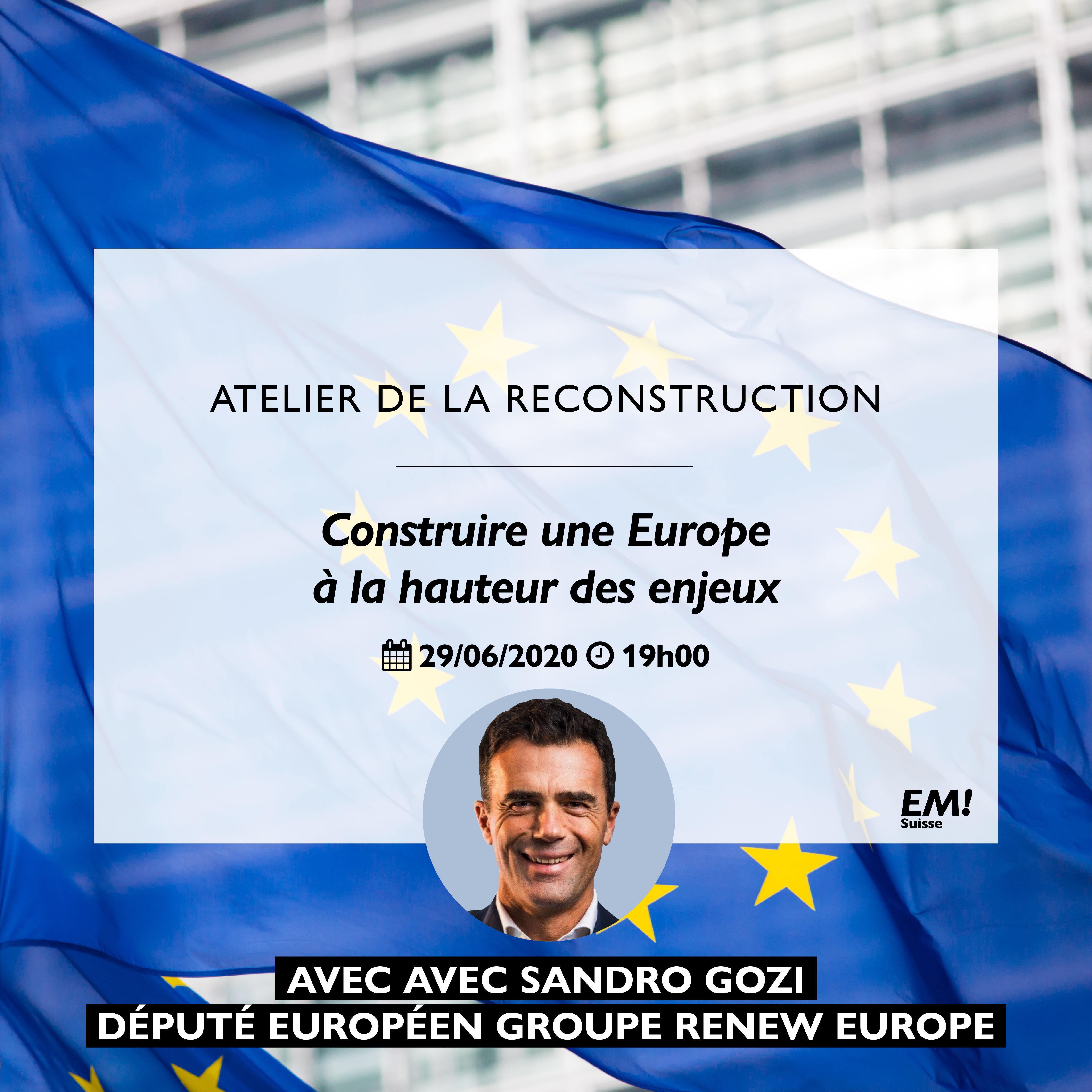 Thème 8 : Construire une Europe à la hauteur des enjeux