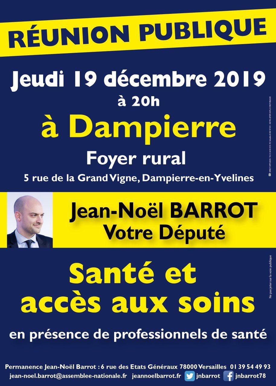 Affiche de la réunion publique de 19/12/2019