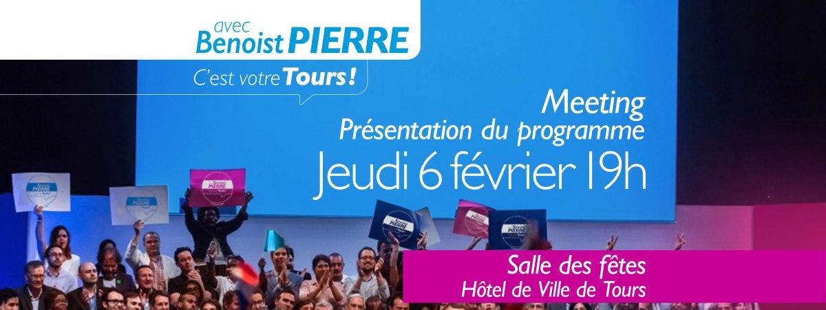 Meeting de présentation du projet municipale de Benoist PIERRE et de la liste C'est votre Tours.