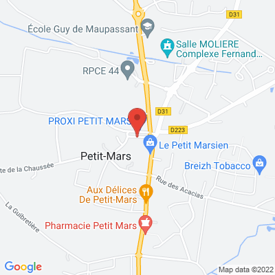 le maximum de rues de la commune, 44390 Petit-Mars
