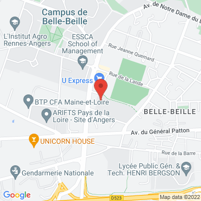 Parking Gymnase de Belle-Beille 47 Boulevard Victor Beaussier, 49000 Angers