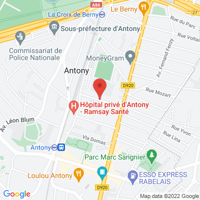 Avenue Jeanne D'arc / Nationale 20, 92160 Antony