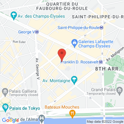 1 rue Robert Estienne, 75008 Paris 8e