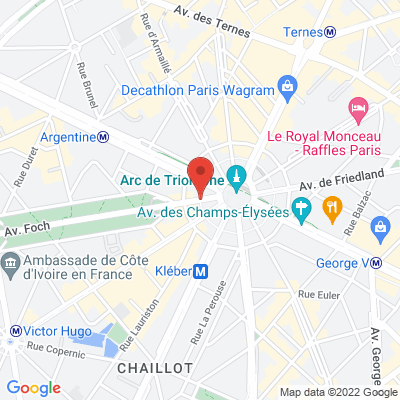 1 avenue Foch, 75008 Paris 8e